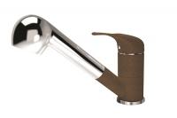 Смеситель для кухни с выдвижной лейкой Florentina Сигма FL коричневый код 101682
