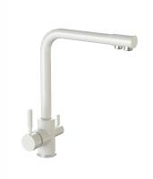 Смеситель для кухни Bergg белый лед с возможностью подключения фильтра для воды код 101253