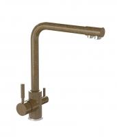 Смеситель для кухни Bergg терракот с возможностью подключения фильтра для воды код 101259