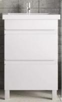 Тумба Монти 60 белый матовый с умывальником COMO 60 код 101343
