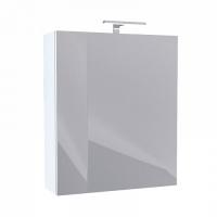 Шкаф-зеркало, 50 см, двухдверный, белый, New Mirro, NMIR502i99, IDDIS код 100987