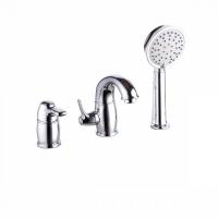 Смеситель на борт ванны на 3 отверстия с керамическим дивертором, хром, Oldie, IDDIS, OLDSB30i07 код 101034