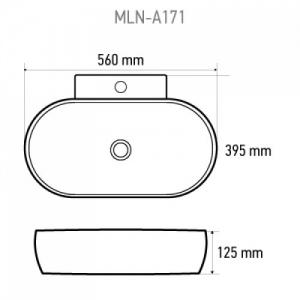 Раковина Melana mln-A171 белая код 101478
