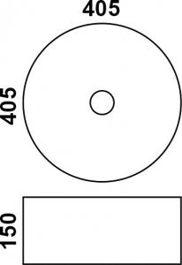 Накладная раковина melana mln-7078ASP код 101413