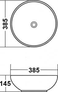 Накладная раковина melana mln-4005-B10 код 101416