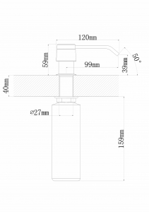 Дозатор для моющего средства Florentina Рондо FL антрацит код 101687