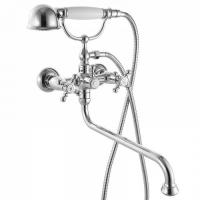 Смеситель для ванны с длинным изливом с керамическим дивертором, SAM, IDDIS, SAMSBL2i10 код 101023