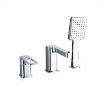 Смеситель на борт ванны на 3 отверстия с керамическим дивертором, хром, Slide, IDDIS, SLISB30i07 код 101032
