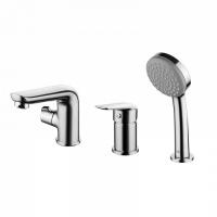Смеситель на борт ванны на 3 отверстия с керамическим дивертором Torr, IDDIS, TORSB30i07 код 101039