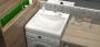 Раковина над стиральной машиной BERGG Аврора V56D1 с кронштейнами код 101865