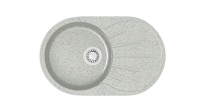 Кварцевая мойка для кухни Bergg Z110 светло-серая код 100563