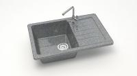 Кварцевая мойка для кухни Bergg Z16 темно-серая код 100992