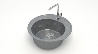 Кварцевая мойка для кухни Bergg Z3 темно-серая код 100995